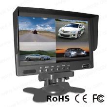 DC12V-24V 7inch Quad Rear View Car LCD Monitor