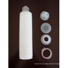 Cartucho de filtro plissado polipropileno / PP com conexão diferente