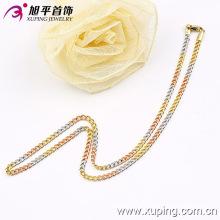 Xuping moda três cores homem forma de fivela colar (42456)