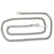 Мода высокого качества металла витой веревкой цепи ожерелье