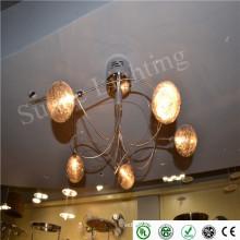Новейший стильный дизайн зал зал led подвесной / потолочный светильник с возможностью затемнения на поверхности