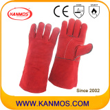 Red Cowhide Split Leather Welding Industrial Safety Work Gloves (11104)
