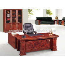 2015 new design mdf modern round office desk, home used simple design office desk