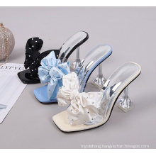 Bowknot Ladies Fancy Hills Shoes Women High Heels for Ladies Wedding Party