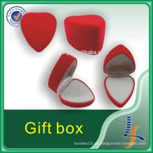 Caja roja de lujo del anillo de la joyería de alta calidad
