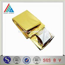 Silver Golden Metallic PET Film Mylar Blanket