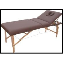 Cama de massagem portátil de madeira de venda quente (MT-2) Acupuntura