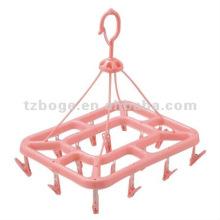 cintre en plastique design rond avec multi-clip moule