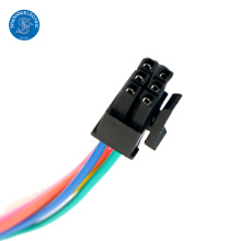 Conectores pretos personalizados ampères molex 6 pinos conector chicote de fios elétricos