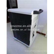 stockage d'ordinateur portable / ipad / comprimé et synchronisation chargeant le chariot / coffret dans les meubles de bureau