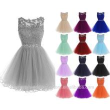 Appliques Ruffles Tiered hueco corto vestido de baile vestido de bola Mini Homecoming reales photosParty vestidos de cóctel CWFc2457