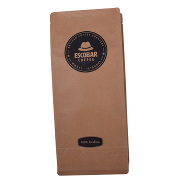 Kustom Dicetak Biodegradable Compostable Pla Kraft Paper Flat Bottom Pouch