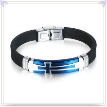 Edelstahl Armband Silikon Schmuck Silikon Armband (LB502)
