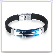 Stainless Steel Bracelet Silicone Jewelry Silicone Bracelet (LB502)