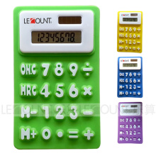 Mini Size 8 Digit Silicon Foldable Gift Calculator with Magnet (LC519A)