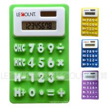 Calculadora dobrável do presente do silicone do dígito do tamanho 8 mini com ímã (LC519)