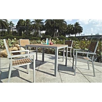 Muebles al aire libre 5pc Set comedor madera imitación