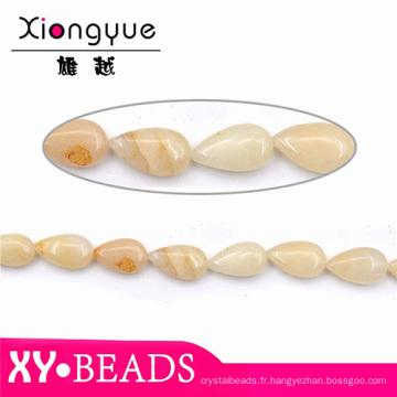 10x16mm goutte jaune clair Semi pierre précieuse