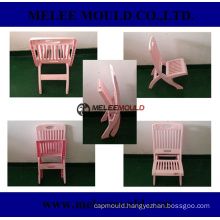 Plastic Foldable Kids Pink Chair Mould