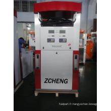 Zcheng Red Color Benett Distributeur de carburant Double pompe