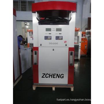 Zcheng Color Rojo Benett Fuel Dispenser Doble bomba