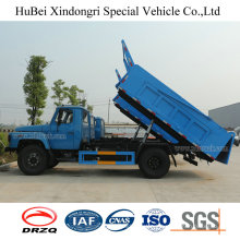 8cbm Dongfeng Barrel Collecting Euro 4 Self Dumping Waste Collection Garbage Truck