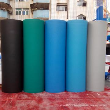 Tableau en caoutchouc antistatique de feuille en caoutchouc d'ESD de prix d'usine ou tapis de banc