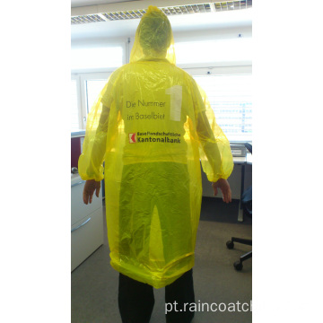 One Time Use Raincoat descartable de plástico
