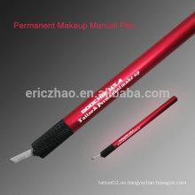 Pluma manual caliente del maquillaje del tatuaje de la venta / pluma manual permanente del maquillaje de la ceja