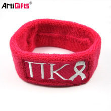 cheap custom sweatbands with embroidered logo