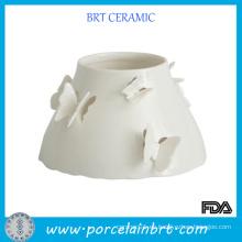 Mariposa de cerámica de lujo de gran jarra de vidrio