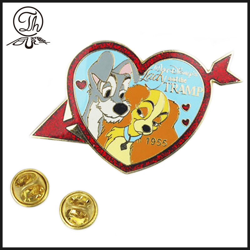 Cartoon imitation enamel badge
