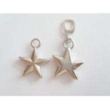 Étiquette de sac à main privée en métal étoile / ronde avec logo personnalisé et étiquette à main de mode avec haute qualité à vendre
