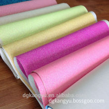 synthetic pvc leather for decoration glitter leather