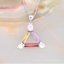 Moda boa qualidade imitação de jóias sorte triângulo pingente