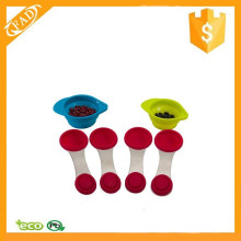 Professional Useful Colorful Silicone Handle Kitchen Measuring Spoon