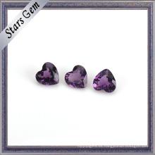 Misteriosa púrpura natural amatista piedra de nacimiento para la joyería