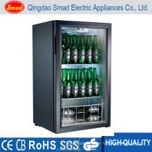 Puerta de cristal Tabla superior / barra de contador Refrigerador de la barra Refrigerador portable de la exhibición del refrigerador