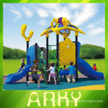 Out door quality LLDPE playground equipment / park plastic play structure