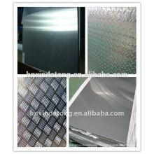 Aleación de chapa de aluminio y placa con todo tipo de temperamento, panel de tejado de aluminio, panel de pared