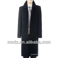 Fashion Business Long Black Trench Coats For Men