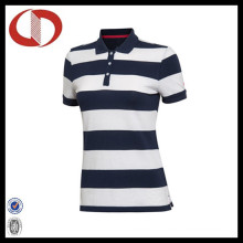China Breathable Classic Stiped Polo Shirts for Women