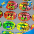 One time use Only custom stickers vinyl /glossing red holographic stickers