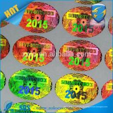 ZOLO Tamper evidente VOID / Golden Custom hacer etiqueta holográfica