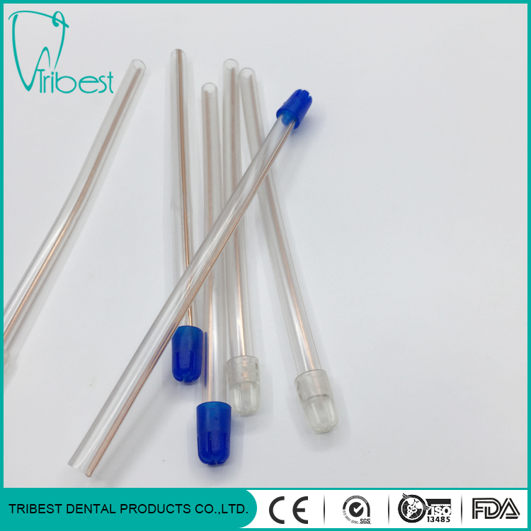 Disposable Colorful Tip PVC Saliva Ejector