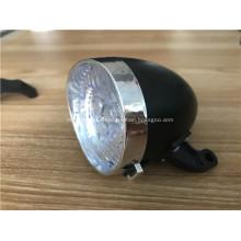 Luz de bicicleta negra con batería