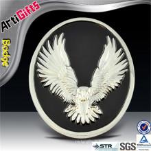 Wholesale brass eagle enamel sign car emblem