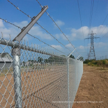 ASTM A392 wholesale 8 foot galvanized chain link fence prices gates fittings post 36 inch for prisons