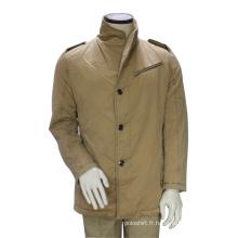 Veste de manteau de pois d'hiver de coutume longue Outwear