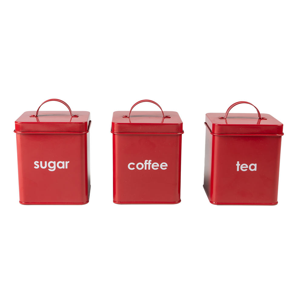 Tea sugar coffee canister